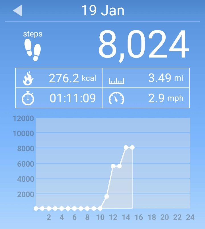 I walked 8024 steps Horrible day out...  #tuesdaymotivations