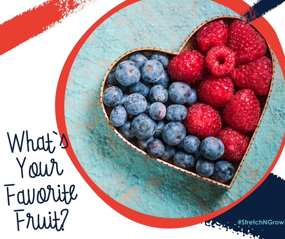At Stretch-n-Grow, we love eating healthy foods! This week we want to know; What is your favorite fruit? . . #sngomaha #healthymindsandbodies #preschoolfitness #kidsfitness #healthyeating #healthysnacks https://t.co/fHB1DyutN4