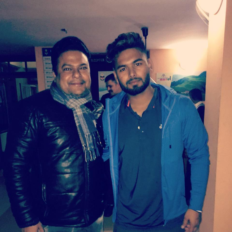 Me with 23-year-old @RishabhPant17  the next big thing in Indian Cricket .... Congratulations #TeamIndia #Cricket #AUSvsIND #RishabhPant #IndianCricketTeam #tuesdaymotivations  #CongratulationsIndia