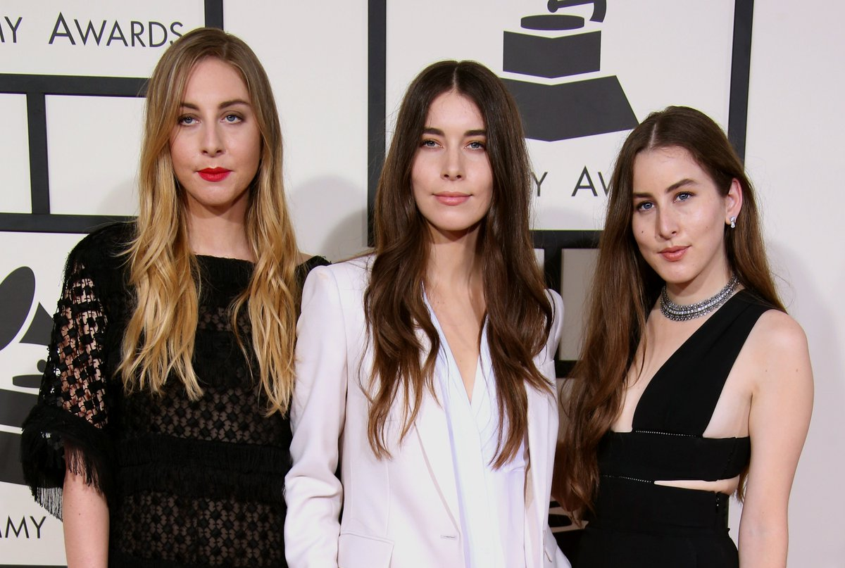 Did you know @HAIMtheband, comprising of sisters Este, Danielle, and Alana Haim, are the first sister trio to receive a Best New Artist nomination?   They were nominated at the 57th #GRAMMYs in 2015:  🎵