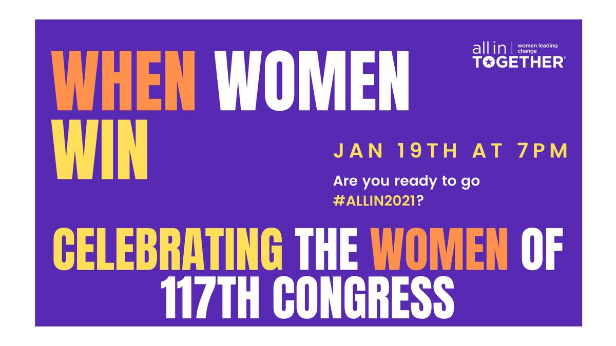 Dont miss @SenStabenow, @RepCheri, and @RepNancyMace share their insights on the 117th Congress and how they plan to lead in 2021. 👭🎉 Tonights moderators: @DanaBashCNN, @IAmAmnaNawaz, @emrwilkins, and @laurenleaderAIT 7 pm Free✅ Virtual✅ Register: eventbrite.com/e/when-women-w…