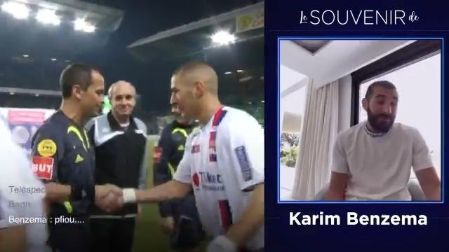 """""""Souvenir de... Karim @Benzema""""  Notre ancien attaquant évoque avec @barthruzza un des buts les plus importants de sa carrière lyonnaise, marqué à Saint-Etienne !  #ASSEOL"""