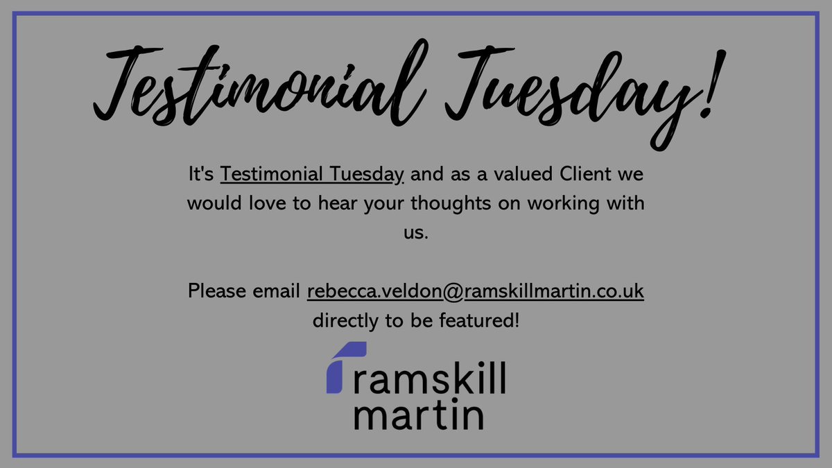 It's Testimonial Tuesday and we would love to hear from you!  #testimonial #testimonialtuesday #TuesdayFeeling #constructionworker #construction #EngineeringUK #Engineering