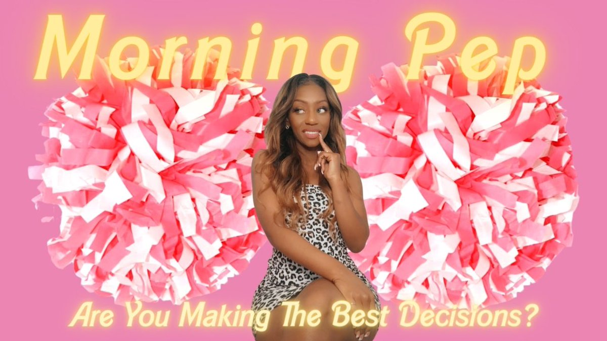 Morning Pep - Are You Making The Best Decisions - Self Love Series  via @YouTube #tuesdayvibe #TuesdayFeeling #Youtube #Success #GirlBoss #BossBabe #SelfLove #Subscribetomychannel