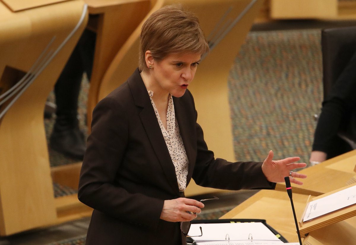 Nicola Sturgeon has extended #Scotland's current #lockdown until at least mid-February.  She says cases of #coronavirus won't have fallen enough by 1st Feb to make any changes to restrictions, including the closure of #schools