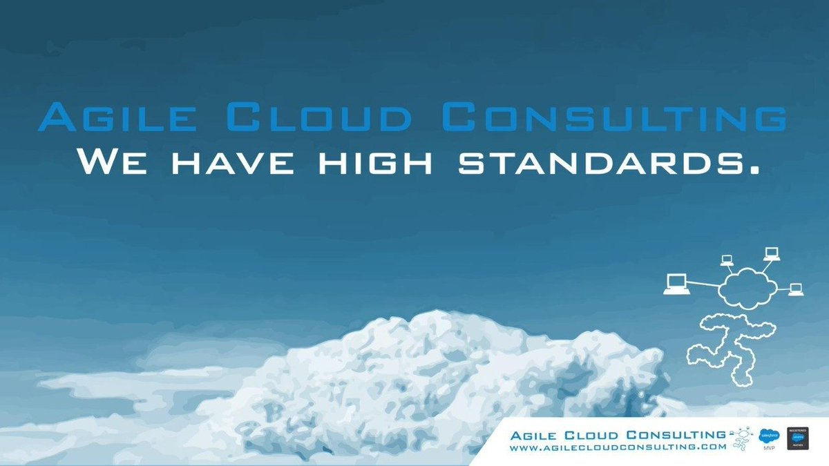 We here at #Agilecloudconsulting like to set our bar among the clouds. #tuesdayvibe #TuesdayFeeling #Salesforce #salesforcecertified