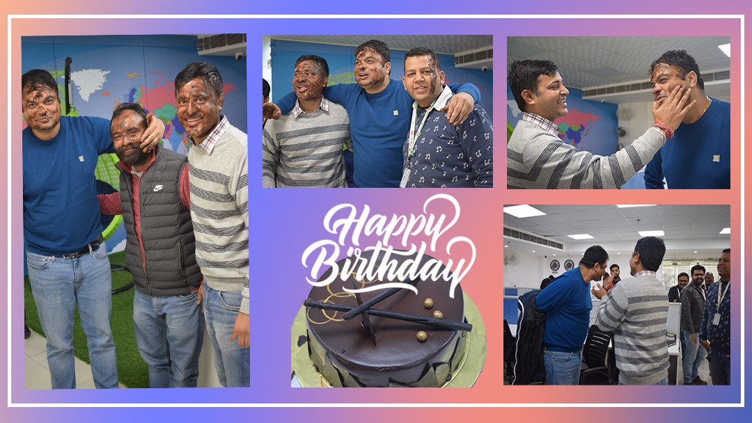 AAA 2 Innovate celebrating birthday of Dr. Ambrish Kumar  #birthday #celebration #birthdaycelebration #cake #party #happiness #teamparty