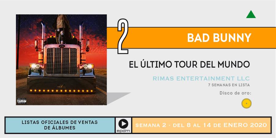 🔝 2️⃣ en la lista oficial de ventas de discos en España para @sanbenito por #ElÚltimoTourDelMundo #TopÁlbumes