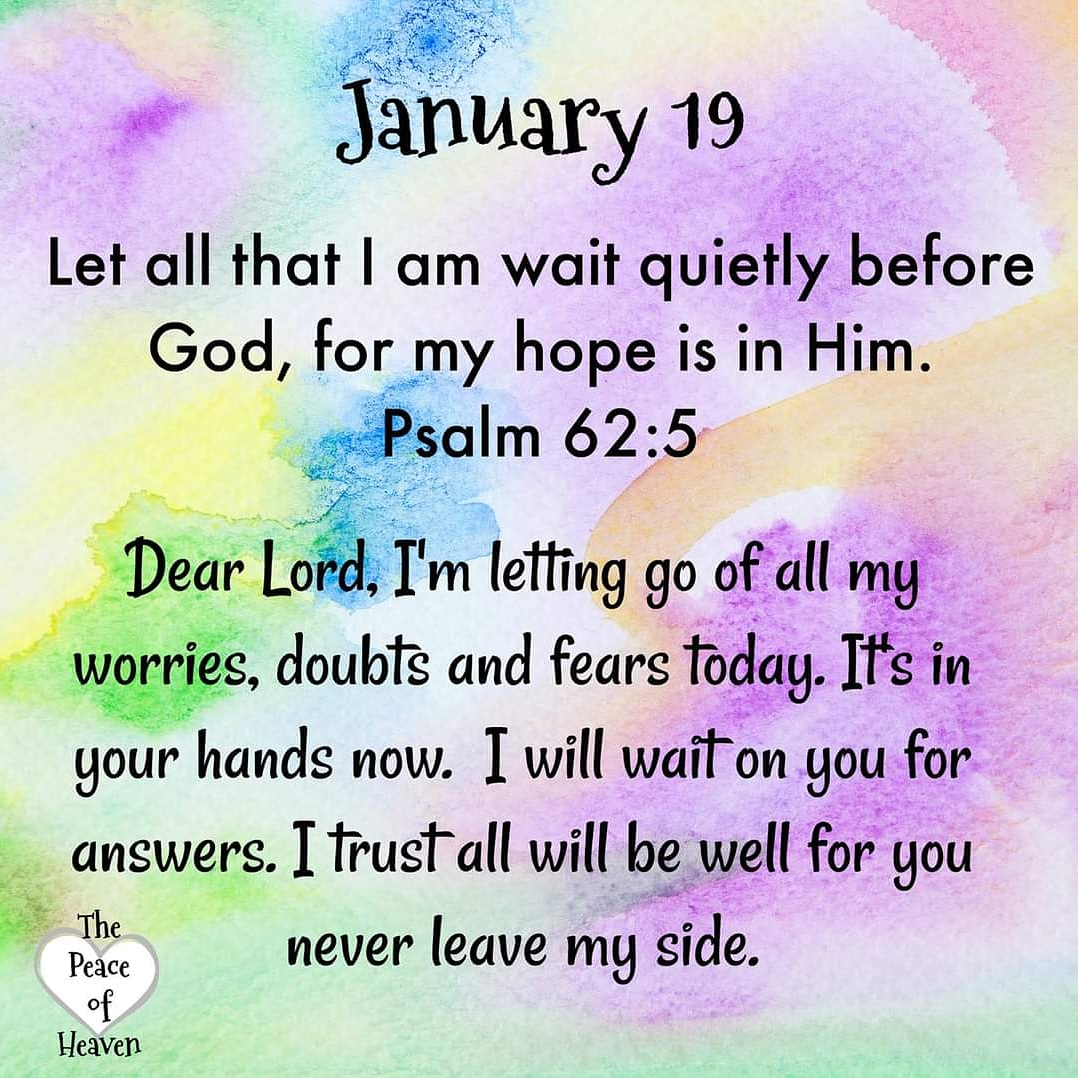 ☀️☕Good Morning Brothers And Sisters. ❄Let all that I am wait quietly before God, for my hope is in Him. -Psalm 62:5❄ Trust In God's Timing. Leave Everything In God's Hands. Have A Blessed Day! #JesusLovesYou #VerseOfTheDay #tuesdayvibe #TuesdayFeeling #Jesus #LoveOverHate