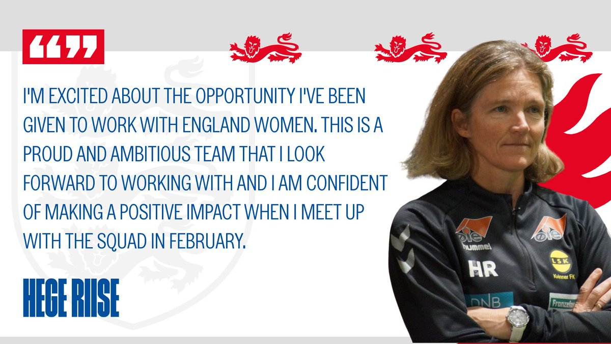 Riise will now step up to lead the February camp supported by Wilkinson and Kay Cossington, The FA's head of women's technical. 👇