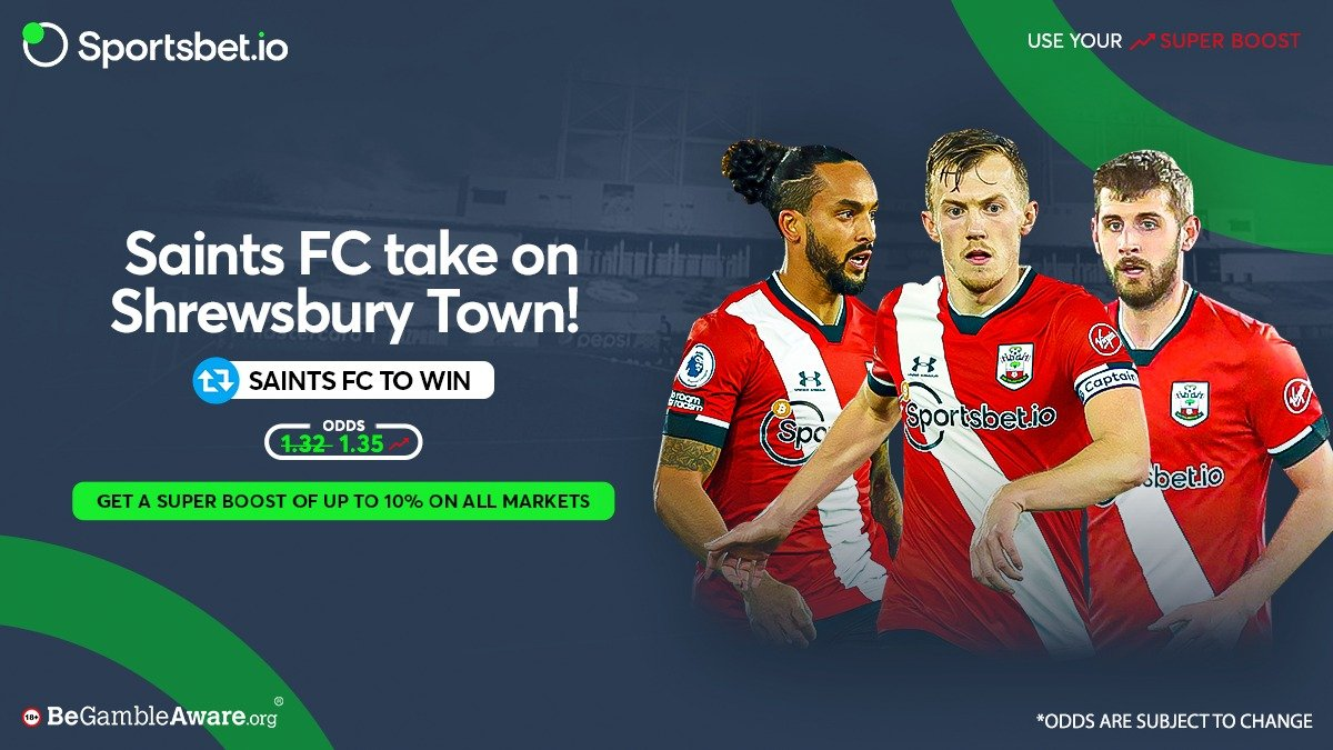 #SaintsFC have faced Shrewsbury twice in the #FACup and have won on both occasions.✅  Will they make it 3 out of 3 tonight? 🤔  Odds - 1̶.̶3̶2̶ 1.35 🚀  Head to 👉  and win big with the Saints! 💰  #Southampton #Shrewsbury #SaintsFC