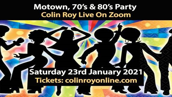 Topic of Cancer's patron Colin Roy, is having a party on Zoom! Tickets are available from   Have Fun! #motown #zoom #party