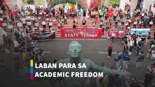 Protesta ang sumalubong sa hakbang ng Department of National Defense na ipawalang-bisa ang UP-DND Accord of 1989. Panoorin!