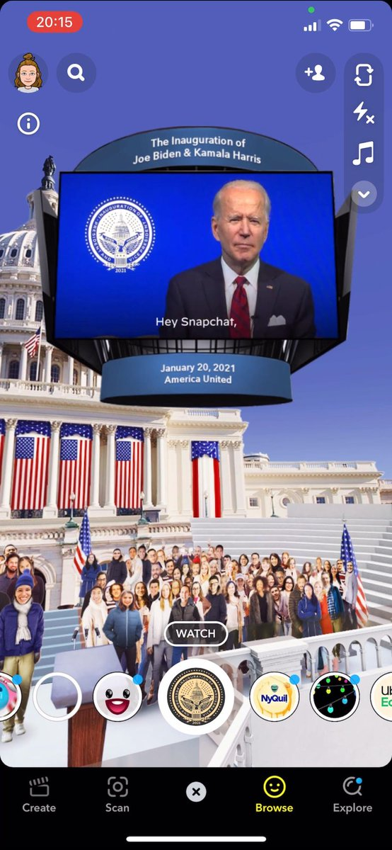 Biden plans Inauguration Day Snapchat filter alongside locked-down live event https://t.co/rEjgFFRmzj https://t.co/UzNkD197kt