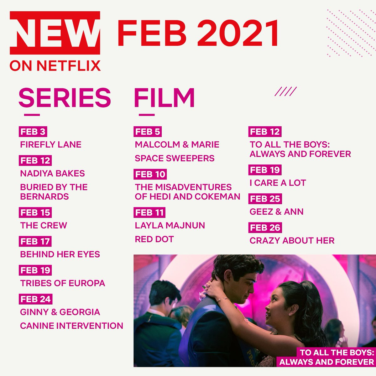 Replying to @netflixqueue: A sneak peek at a few of the new films and shows coming to Netflix US in February