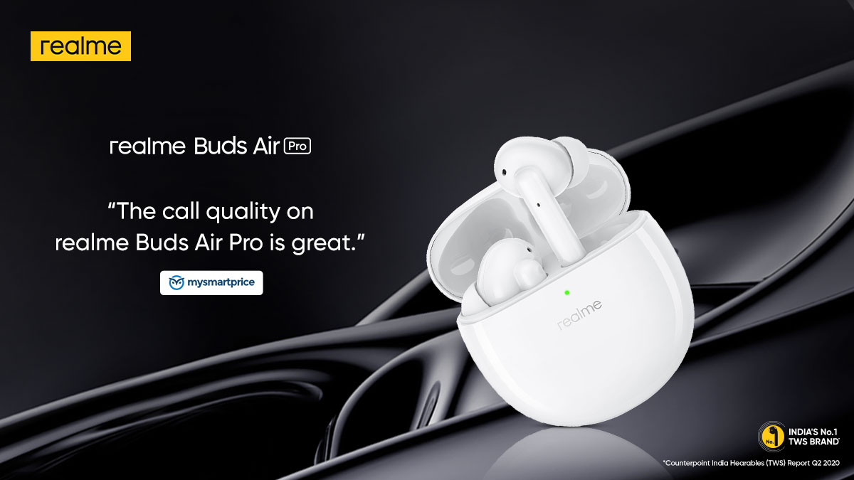 Check out what the experts at @mysmartprice have to say about the clear call quality of the #realmeBudsAirPro. Are you ready to #TuneOutTheNoise?  Available on  and @Flipkart. Buy now: