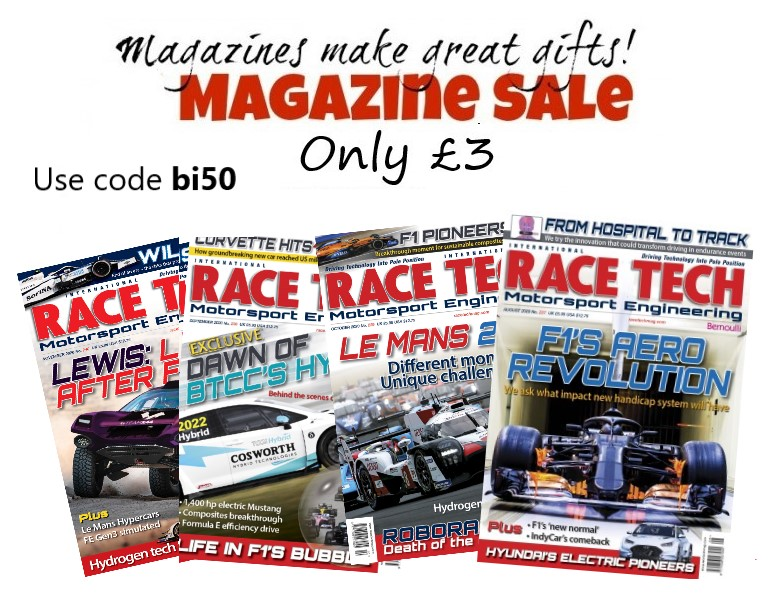 Don't miss our January sales! Back issues of RACE TECH only £3! For a limited time only #motorsport #F1 #Engineering #EngineeringUK #Racing #NASCAR #lemans24 #INDYCAR #ElectricCars  #tuesdayvibe