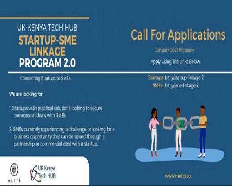 Metta/UK-KENYA TECH HUB Startup-SME Linkage Program 2.0 for tech startups. . . Apply here 👉:  . . #StartevAfrica #MettaUK #Kenya #Startups #SME #tuesdayvibe #TuesdayFeeling #tech #African