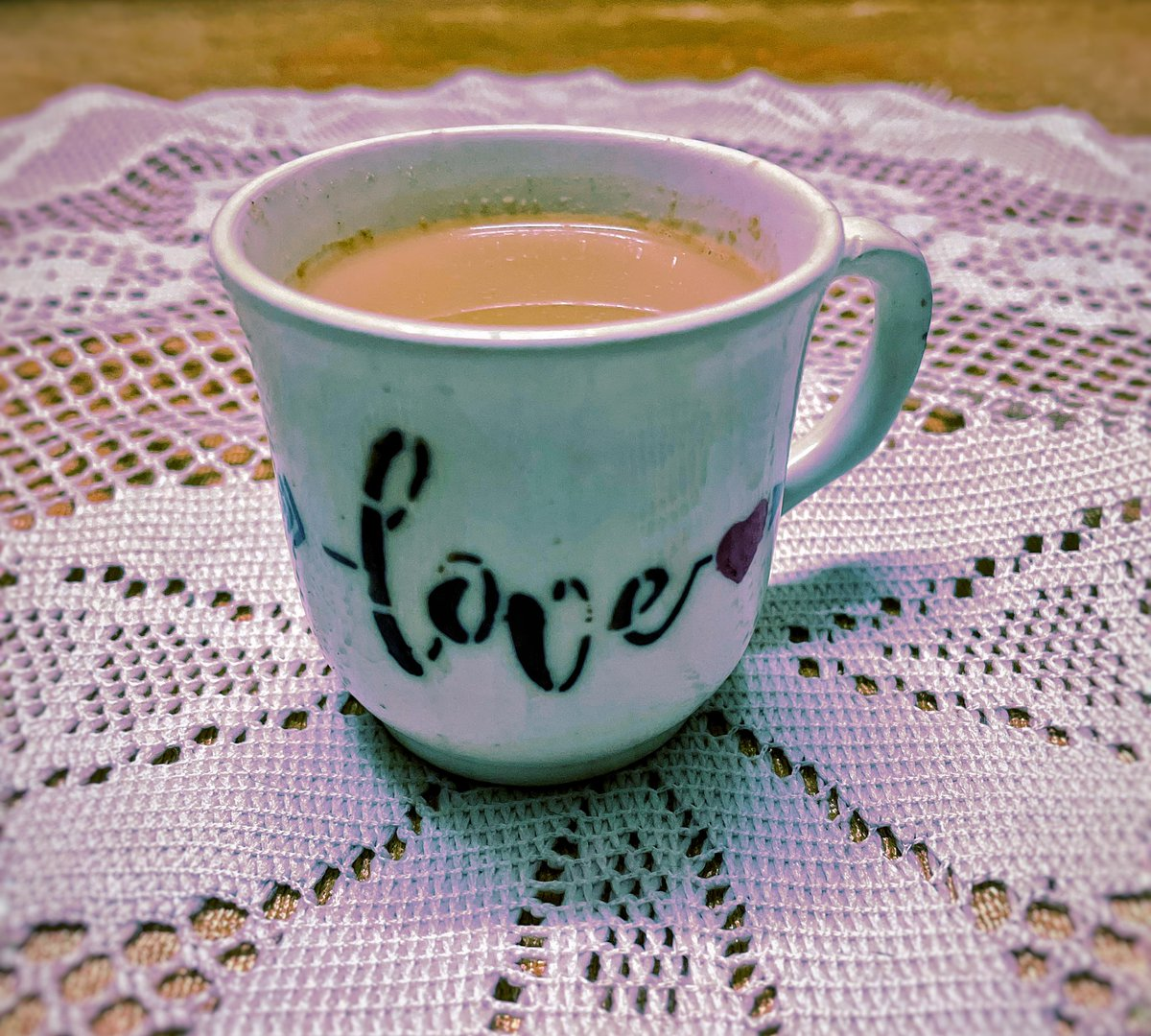 Being served #chai in a cup full of #love ♥️   #tuesdayvibe #tea