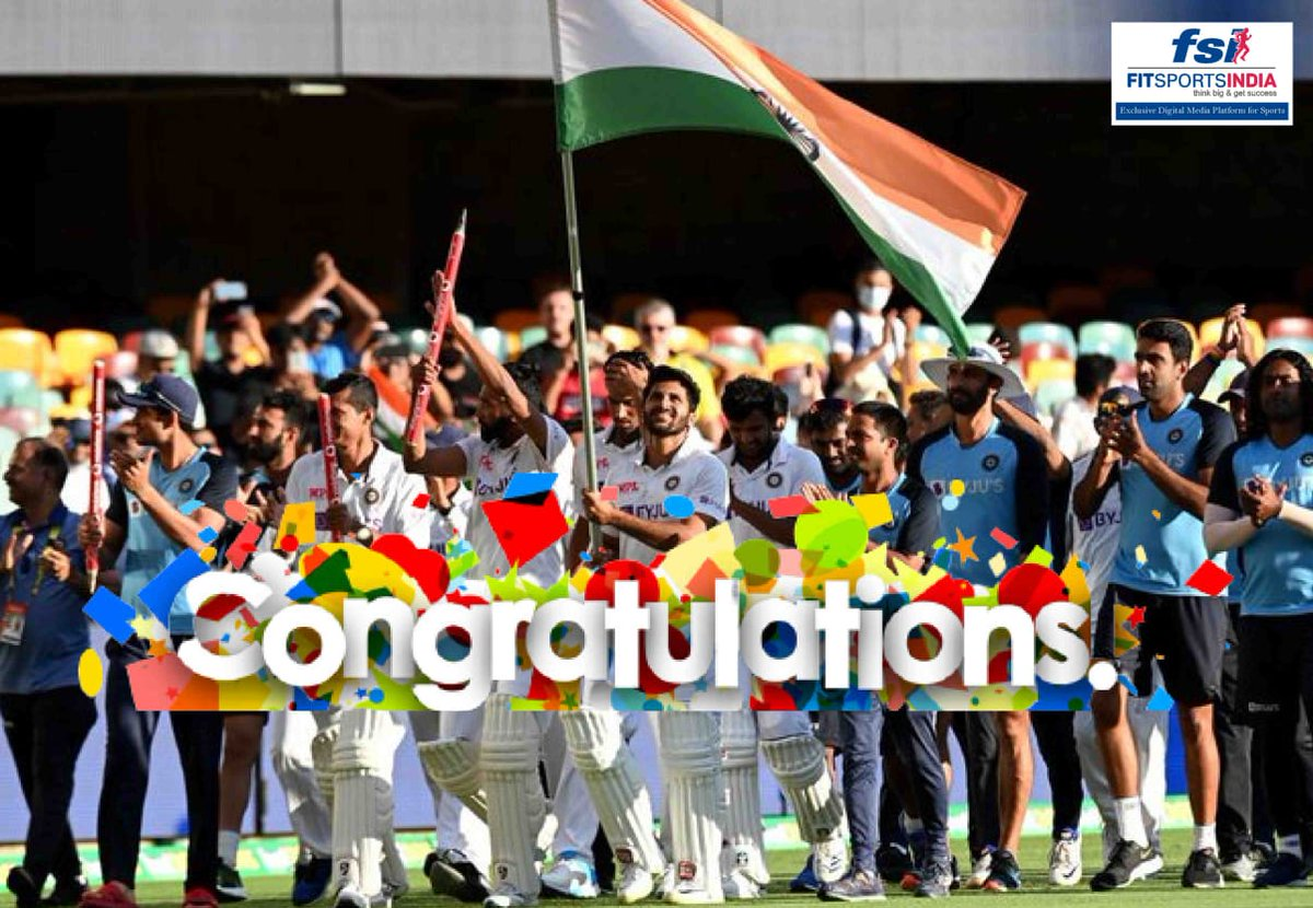 Congratulations #TeamIndia 💐💐 #AUSvsIND #INDvsAUS #INDvAUS #EngvsInd #tuesdaymotivations #tuesdayvibe