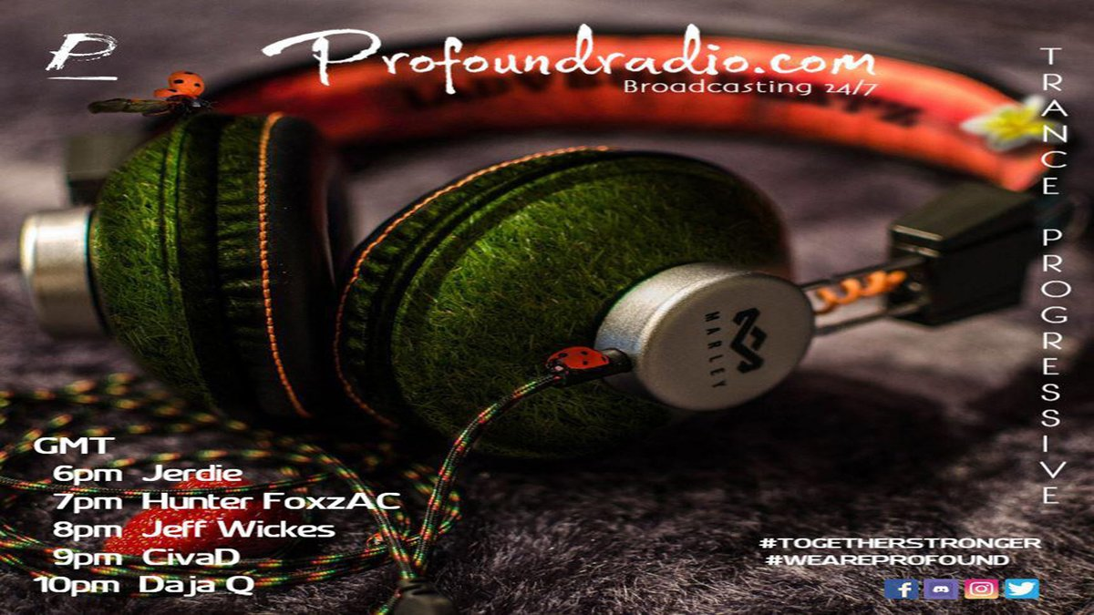 Here We GO, another Tuesday Night... #HunterFoxzAC  In the MIX Trancing the Dance Floors on @ProfoundradioC   7pm #UK 9pm #SouthAfrica   #TuneIn   #ThisIsHunterFoxzAC A Fusion of SOUNDS  #LGTWO #rtArtBoost @music_legion   #USA #UK #France #Russia #Italy