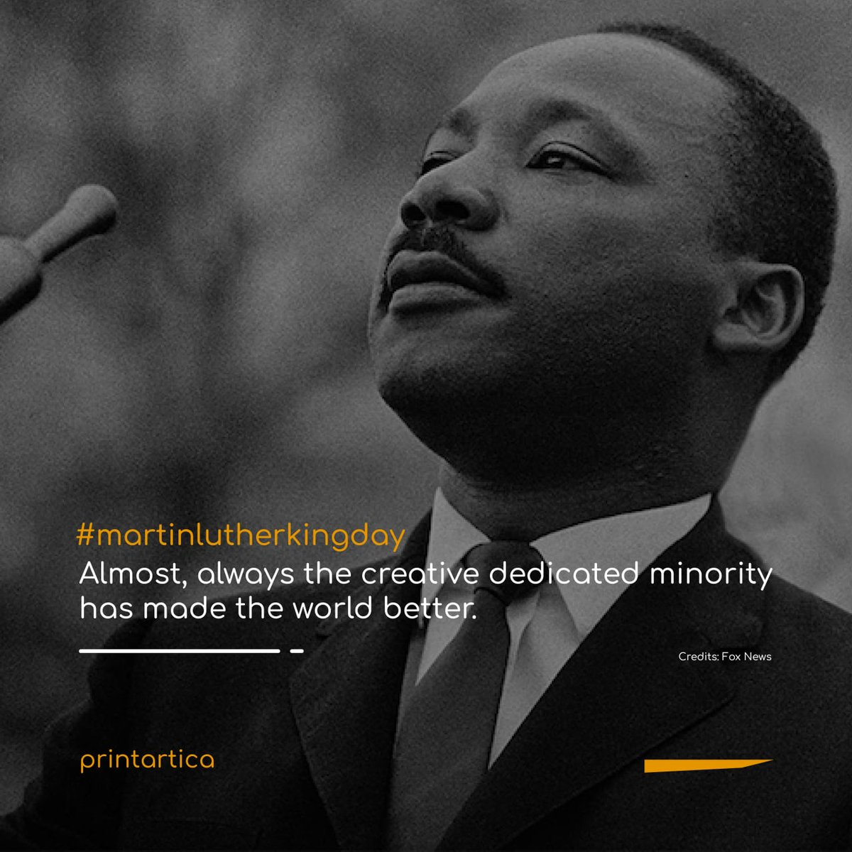 Let's gather whatever we have to keep giving rise to the world into a better place. #martinlutherkingday  Credits: Fox News  #printartica #printarticaauthors #artcommunity #artists #photography #illustrators #digitalartists #digitalartistsofindia #photographers https://t.co/s7NRZoS9md