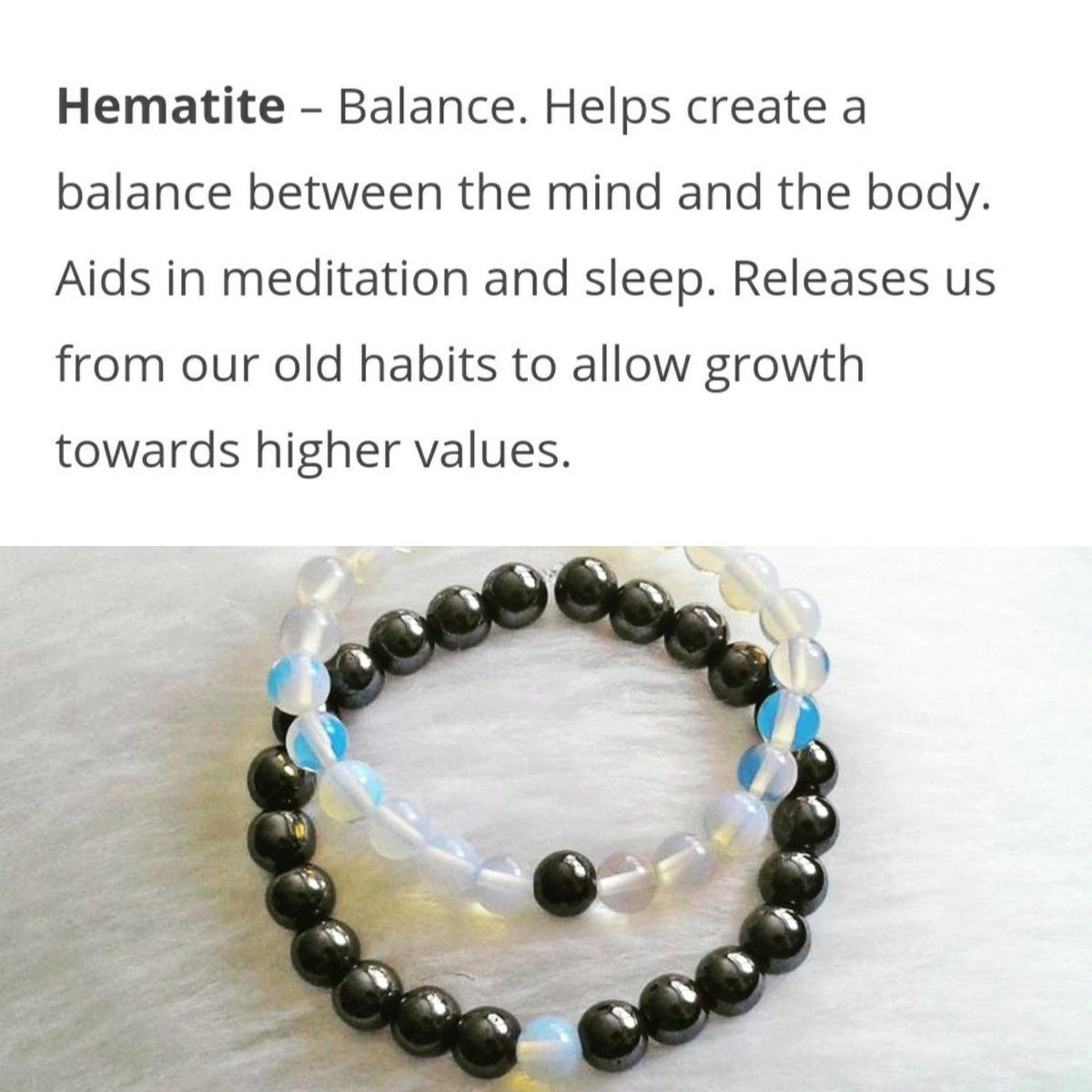 @radiomaisha @Dj2one2 Crystals are created by mother nature & are ultimate source of positive energy. Crystals have been proven to promote emotional, physical & spiritual healing.  Contact us +254113391103 #hematite #opal #handmade #meditation #Healing #yoga #couple #bracelet