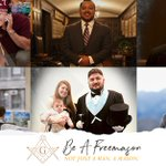 Image for the Tweet beginning: A Freemason is a man