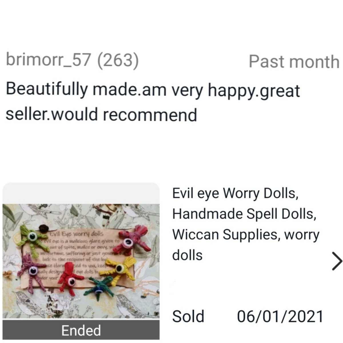 Happy customers, happy me!! I do love good reviews  If you ever buy handmade, always leave a review as it really does make a difference! ♥️ #Review #HappyCustomer #handmade #SmallBusiness