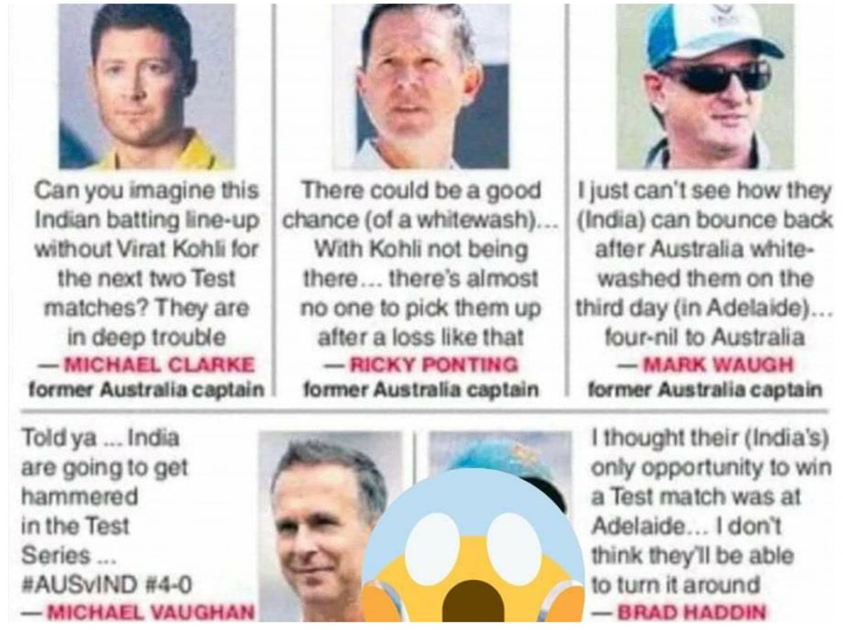 Not just in cricket, but a lesson for life: Experience counts, but an experienced person may or may not be correct always. #AUSvIND #brisbanetest #IndianCricketTeam