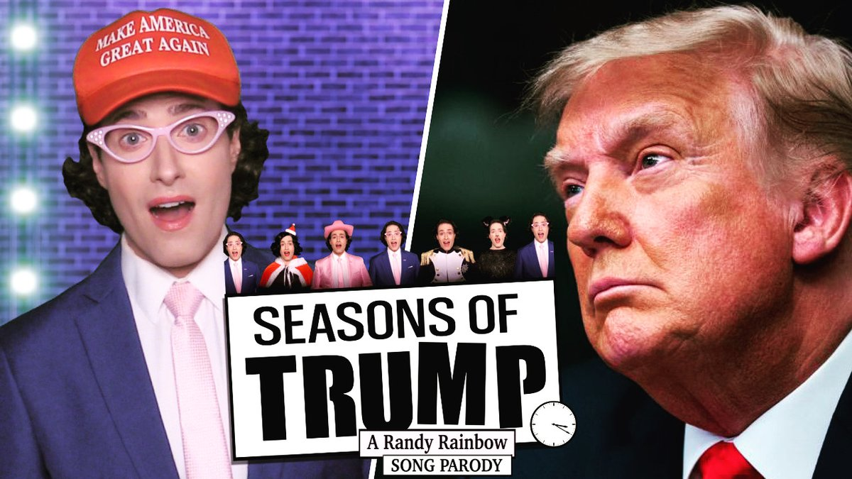 He's done it again!! Genius.   RT @RandyRainbow: You didn't think I'd send him off without my own departure ceremony, did you? 👋🏻🌈🎶 #SeasonsOfTrump