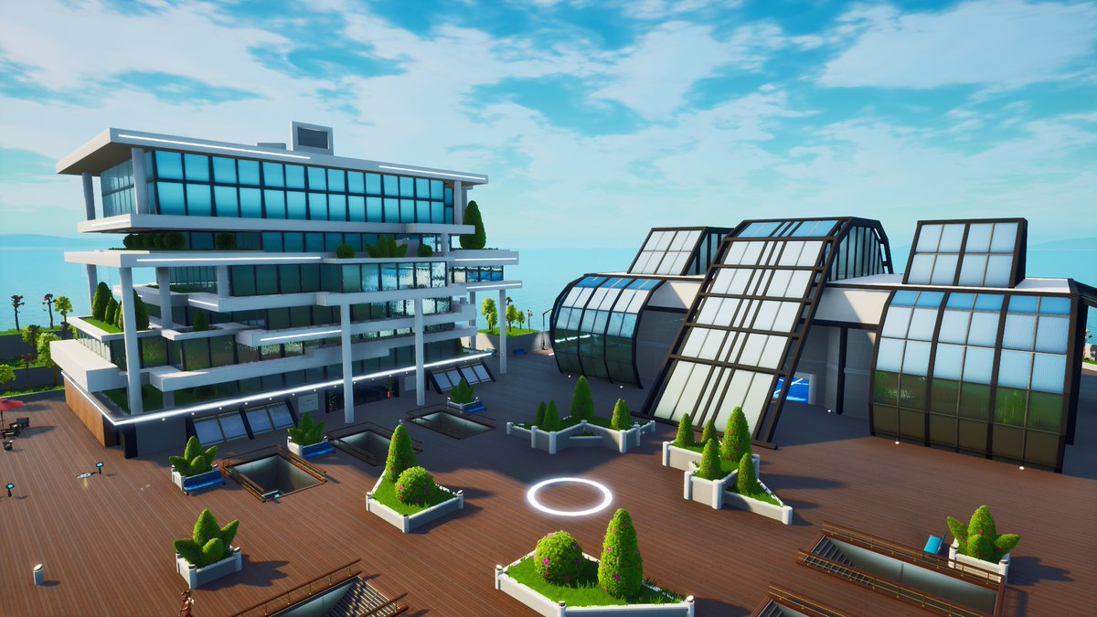 Our soccer (football for us) inspired Hub is now live! Let us know what you think and send us a screenshot if you get to the top of the main building!  #Fortnite #FortniteCreative @FNCreate