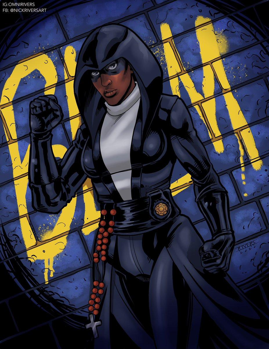 Sister Knight #watchmen #BLM #ArtistOnTwitter #dccomics #Procreate