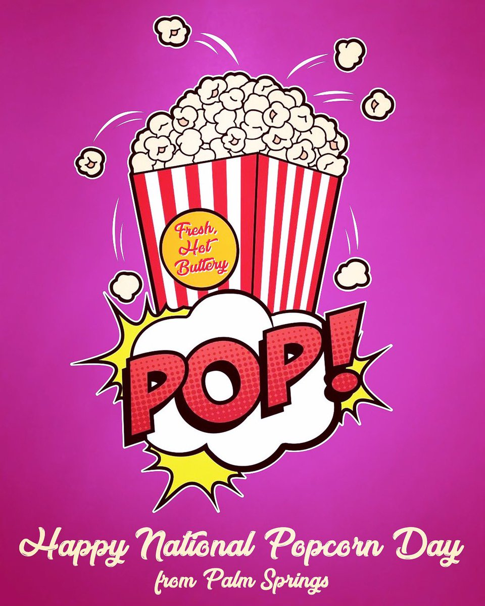 Some hot and buttery pop art for National Popcorn Day🍿🍿🍿 . #nationalpopcornday #palmsprings #Popcorn #popcorncaramel #popcornbucket #popcornlover #popcorntime #foodie #caramelpopcorn #party #movie #movies #popcorn #film  #snacks #food #popcornlovers #Popart #popartstyle
