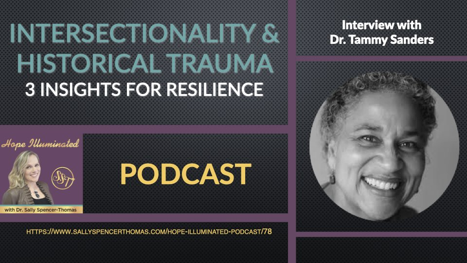 PODCAST: #Intersectionality & #HistoricalTrauma -- 3 Insights for #Resilience: Interview with Dr. Tammy Sanders @tchappen @wellstockedmind Please RT @BartAndrews @1of2vics @SDPPPINC @ShelbyRoweNYC @ursulawhiteside #TuesdayVibe #TuesdayFeeling #TuesdayThoughts #HopeIlluminated