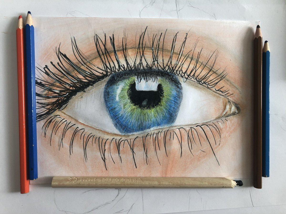 First try with colours... ilk renkli denemem... #portrait #pencildrawing #paint #cizim #watercolor #ankara #pencil #karakalemsipari #hediyesi #tablo #photography #istanbul🇹🇷 #london🇬🇧 #karakalem #art #drawing #sanat #resim #portraits #sketch #colour https://t.co/prZ3x7GACg