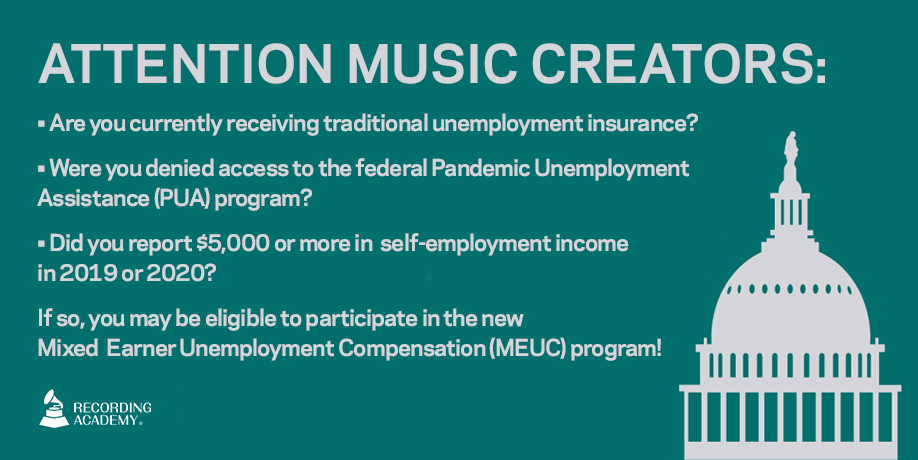 ATTENTION MUSIC CREATORS 🗣 Congress had music creators in mind when including the #MEUC program in the latest #COVID19 relief package.    Learn more here:
