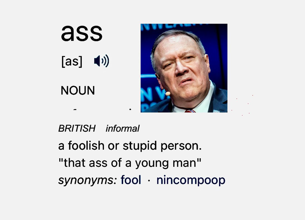 And today's Ass Award goes to #MikePompeo for denying that multiculturalism is a STRENGTH of America! It's only looked upon as a weakness by #racists! #Pompeo