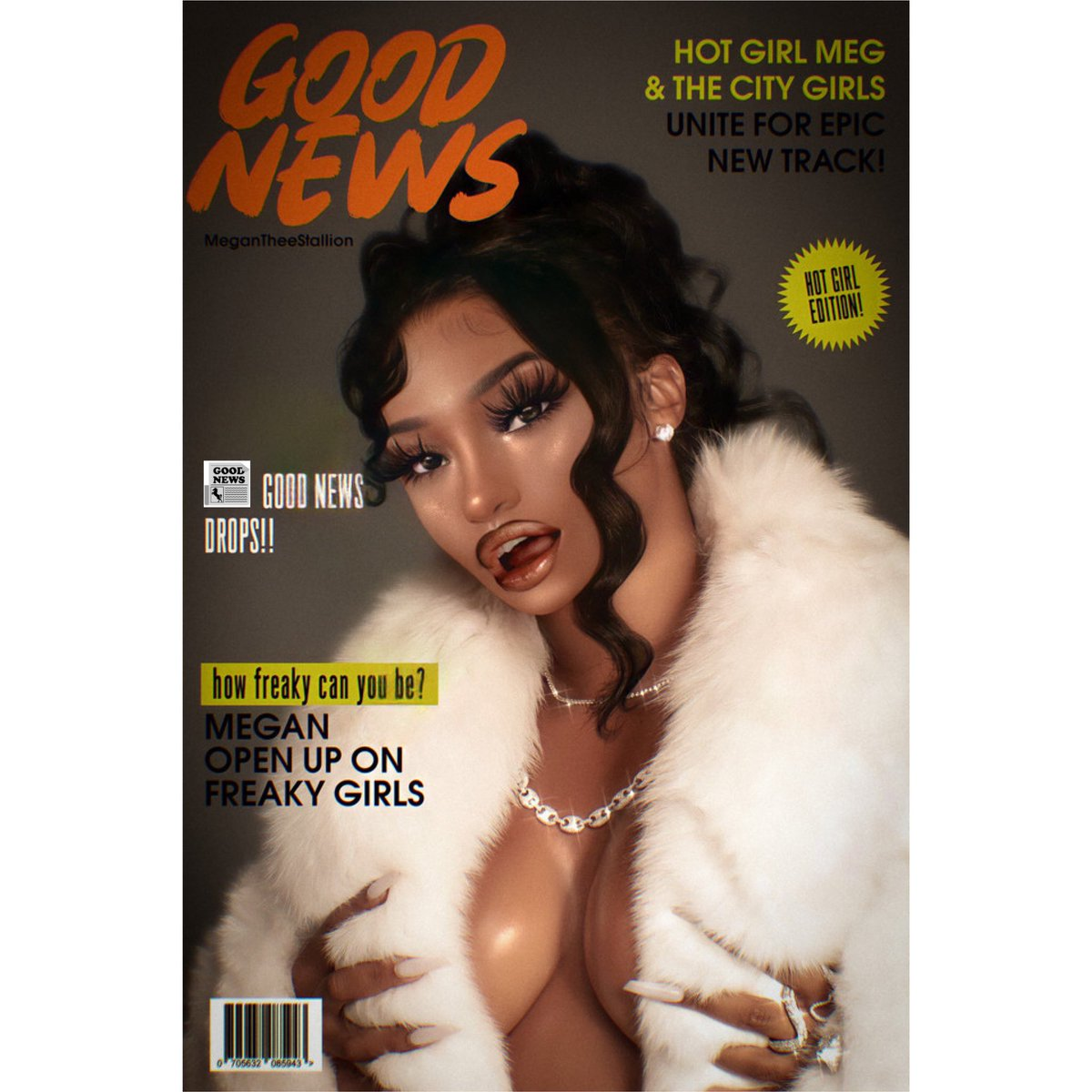 #FanArt @theestallion #GoodNewsMegan 🗞🗞🗞
