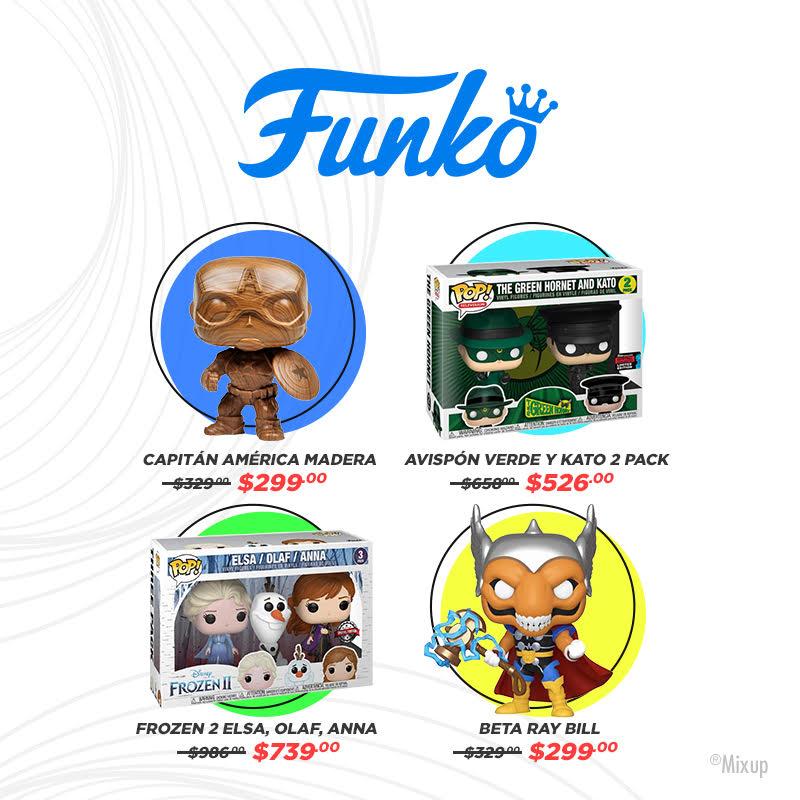 ¡Tu #Funkos favoritos a un super precios sólo en #Mixup!  No olvides consultar los horarios en tienda con servicio de Pick up on store aquí: