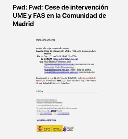 Este es el e-mail, publicado por @elmundoes qué confirma la mentira, la mala fe y, probablemente más cosas, de #Marlaska  #Vergüenza #GobiernoDeEspaña #MarlaskaDimisión #MadridNevado