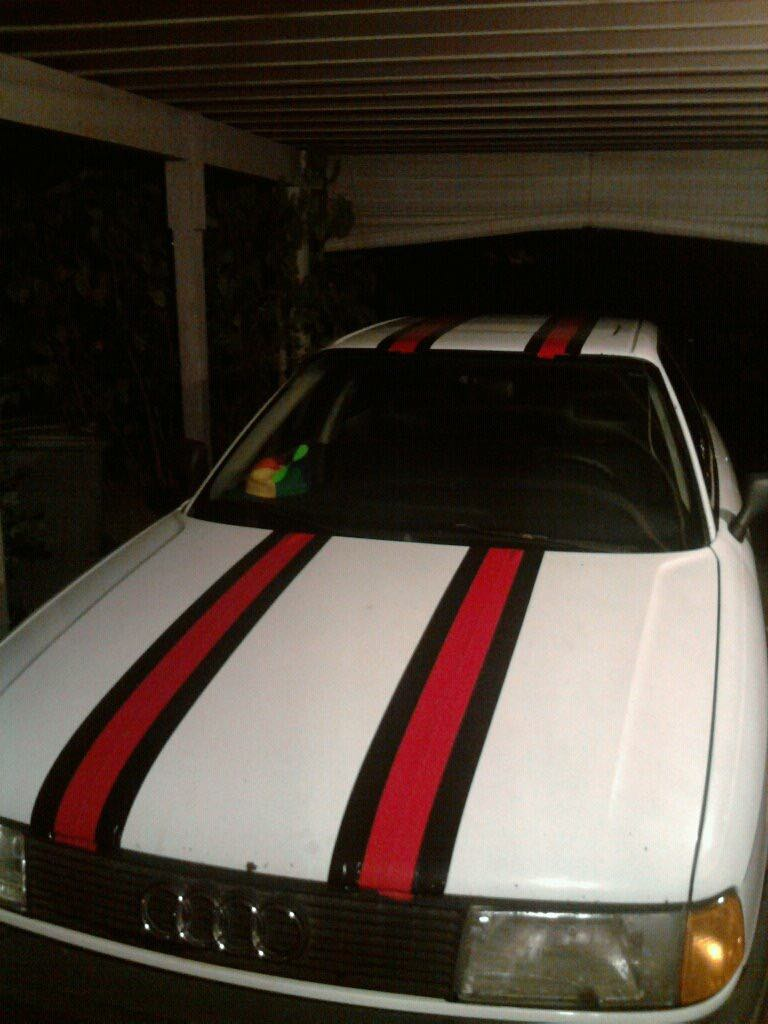 @jimmyfallon #MyWorstCar had custom duct tape racing stripes. Even with the extra horse power it was still old, slow, and extremely unreliable.