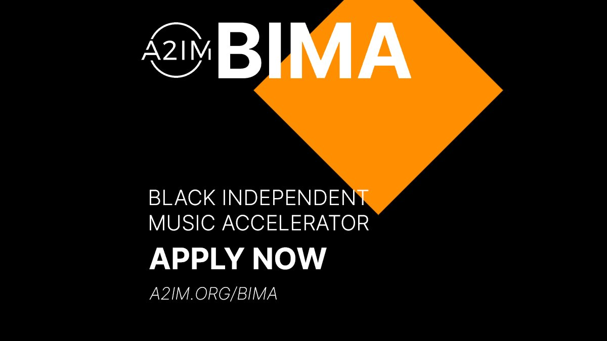 Today we announce the Black Independent Music Accelerator (BIMA), a fellowship program created to fight for social & economic justice in music by amplifying Black-owned independent music businesses. Learn more & apply by Mon, Feb. 1 at  #a2imbima