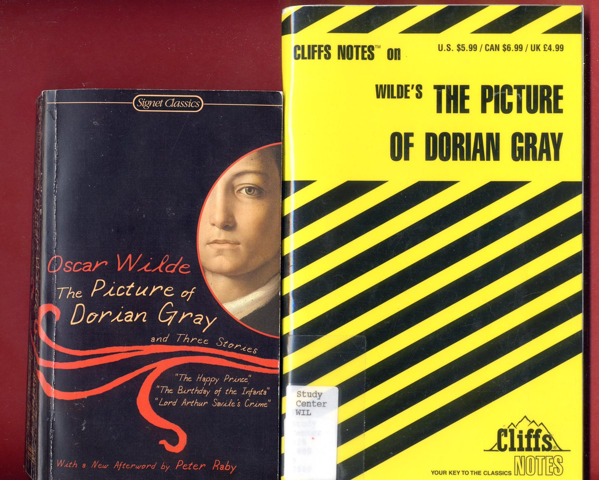 Picture of Dorian Gray by Oscar Wilde & Cliff Notes study guide -Free Shipping- #OscarWilde #PictureOfDorianGray #IrishLiterature #DorianGray  #ThePictureOfDorianGray synopsis