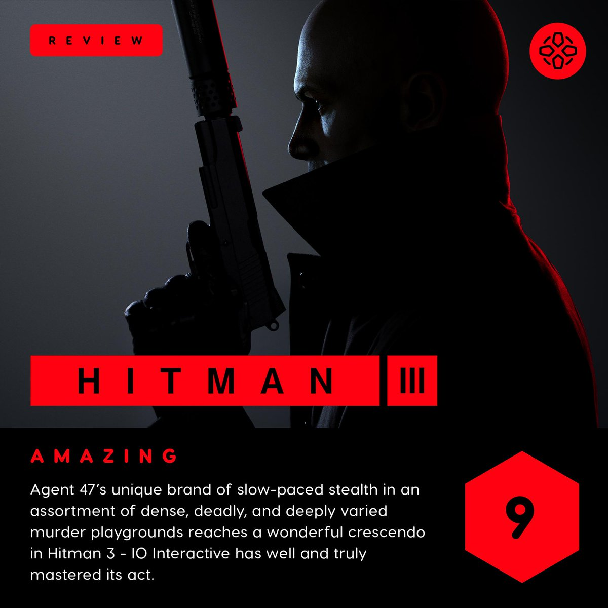 """Hitman 3 is a superb installment in IO's """"World of Assassination"""" stealth trilogy, featuring six huge maps designed to be played several times over.  Our review from @MrLukeReilly:"""