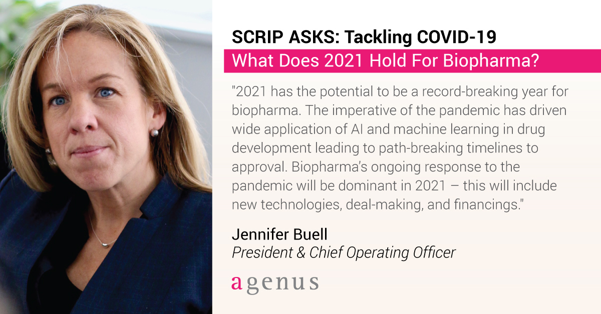 test Twitter Media - How will #biopharma tackle #COVID19 in 2021? @jbuell01, President and COO of $AGEN, and other leading industry experts answer @PharmaScrip's thought-provoking question. Read their responses here: https://t.co/wMgKWwPgvz https://t.co/d0dsYY9NCN