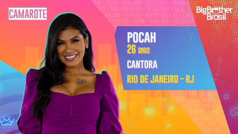 """""""O que tiver que ser feito, eu vou fazer para chegar à final""""   Leia o perfil completo da Pocah →  👀 #RedeBBB #BBB21"""