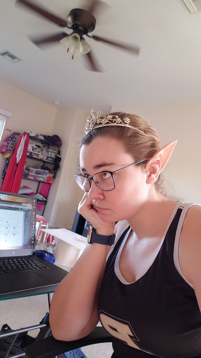 When you gotta get your work done but you'd rather be a mystical elf princess living in a magical woods #workingfromhome #MondayMotivation #help