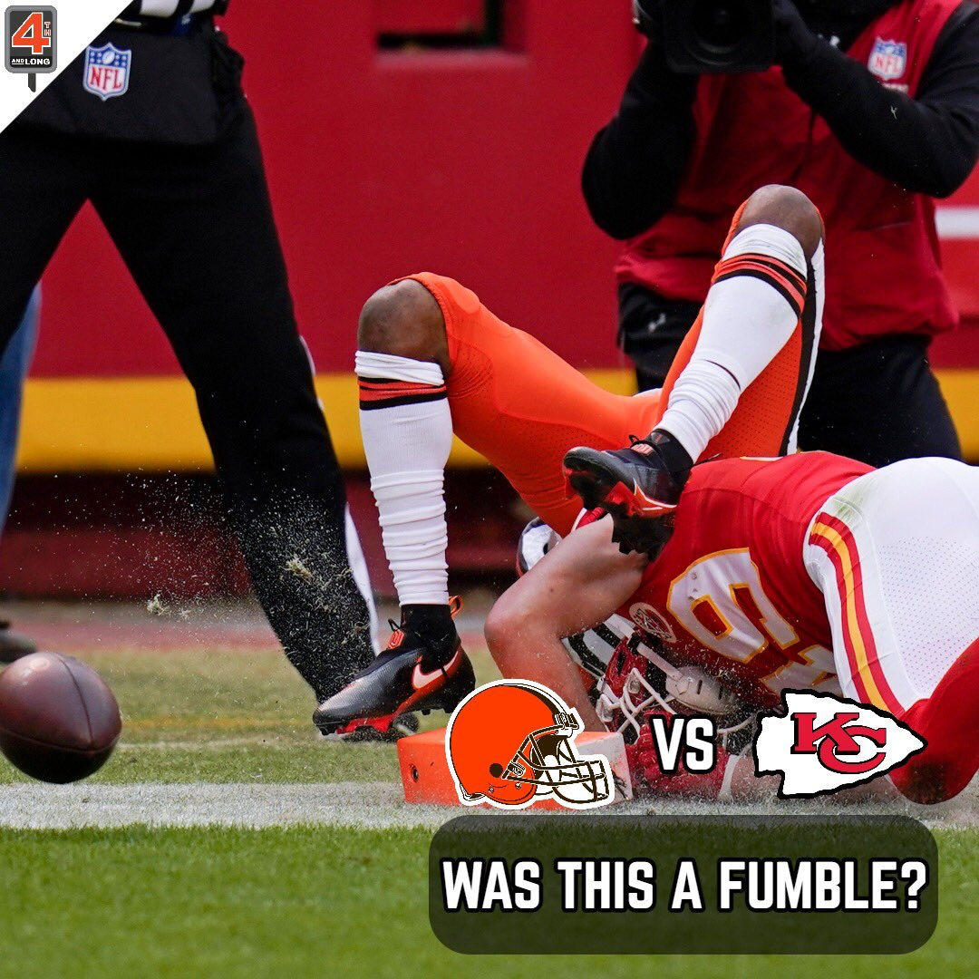 There was a lot of controversy surrounding a certain goal line play for the #Browns, and one that could've won them the game.   Should the #NFL change the rule that makes a fumble out the end zone a touchback?  Give us your thoughts!  #CLEvsKC #ChiefsKingdom
