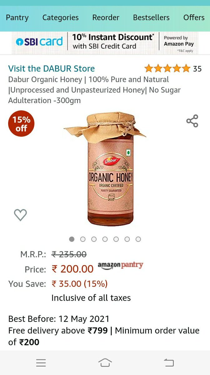 "What is this behavior @DaburIndia? If this new product of yours is ""ORGANIC"", then what were you selling us all these years? #honeytrap #downtoearth @down2earthindia @CSEINDIA @fssaiindia #adulteration"